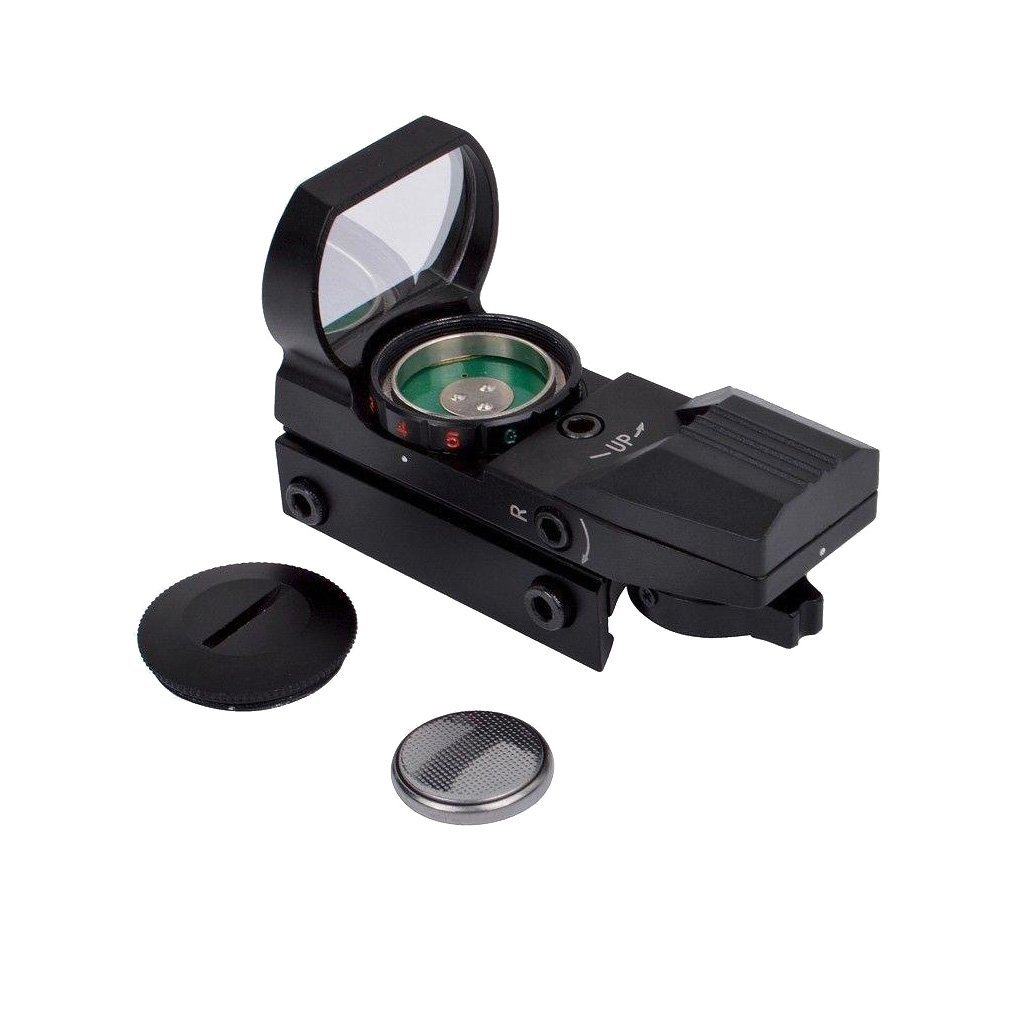 Chinoook Tactical Rifle Red and Green Reflex Dot Sight with 4 Reticles