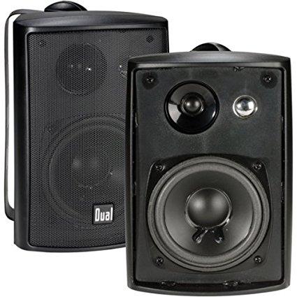 Dual LU43PB 100 Watt 3-way Indoor/Outdoor Speakers in Black (Pair)