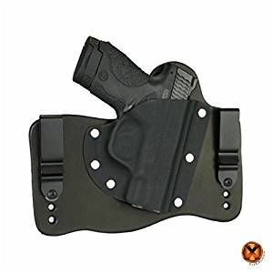 FoxX Holsters Smith & Wesson M&P Shield 9mm & 40 IWB Hybrid Holster Tuckable, Concealed Carry Gun Holster
