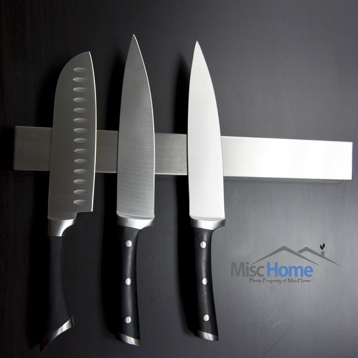 +Hot+ 16 Inch Stainless Steel Magnetic Knife Holder High Quality Magnetic Knife Strip, Magnetic Knife Bar Stainless Steel Easy to Install