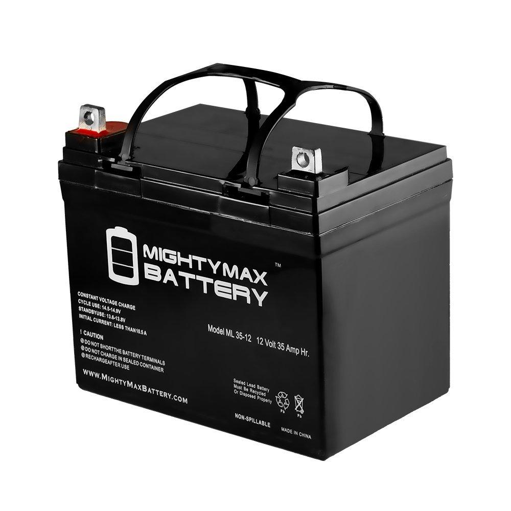 ML35-12 - 12V 35AH U1 Deep Cycle AGM Solar Battery Replaces 33Ah, 34Ah, 36Ah - Mighty Max Battery brand product