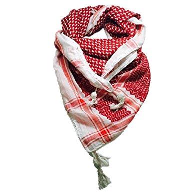 MOHAVY 100% Cotton Fashion Dessert Arab Keffiyeh Tactical Military Shemagh Scarf