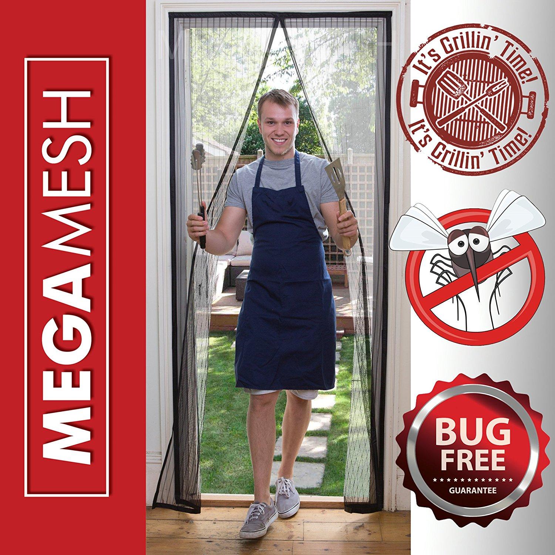 Magnetic Screen Door Heavy Duty Mesh & Velcro Fits Doors Up to 34x82 MegaMesh Comes With a 12 Month Warranty