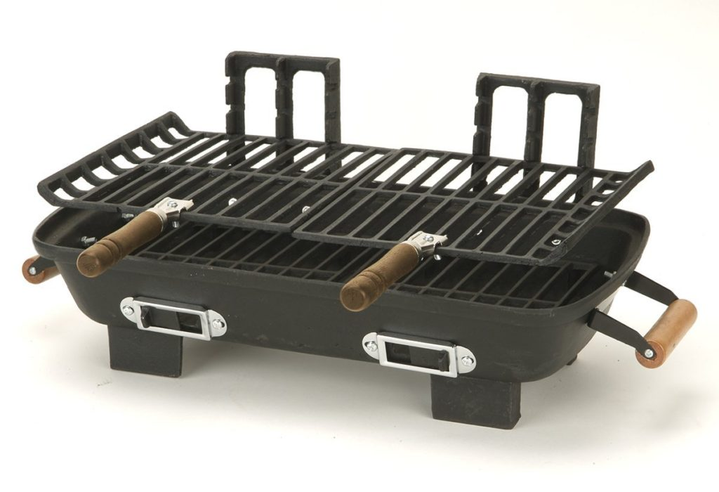 Marsh Allen 30052 Cast Iron Hibachi 10 by 18-Inch Charcoal Grill