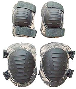 Military Outdoor Clothing 1053-N Previously Issued U.S. G.I. ACU Knee and Elbow Pad Set (New Style)