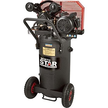 NorthStar Belt Drive Single Stage Portable Air Compressor – 2 HP, 20 Gallon