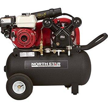 NorthStar Portable Gas-Powered Air Compressor - Honda 163cc OHV Engine, 20-Gallon Horizontal Tank, 13.7 CFM @ 90 PSI