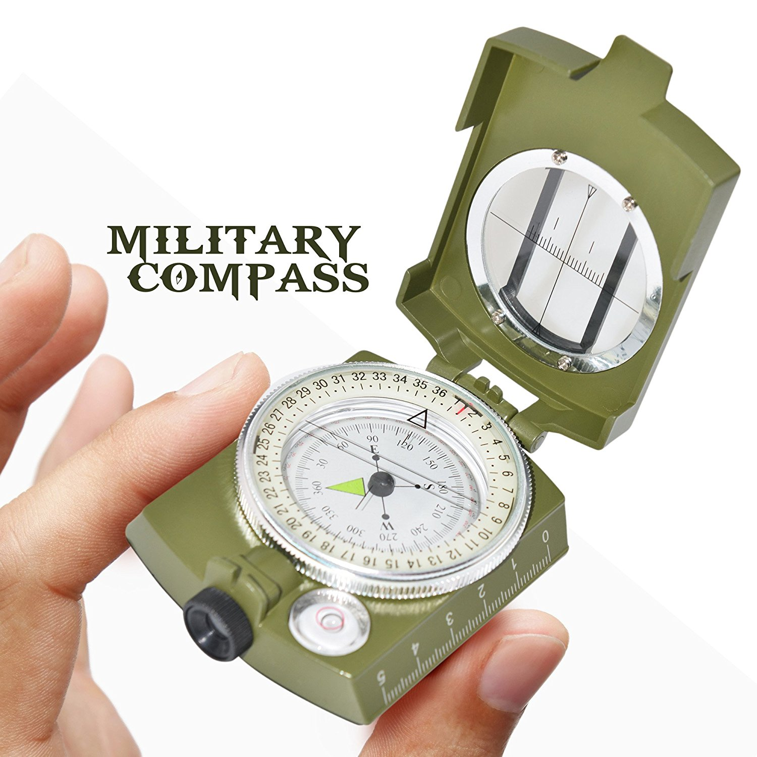 Professional Multifunction Metal Military Compass by Ninjetics - Highly Accurate, Waterproof with Luminous Display