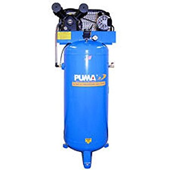 Puma Industries PK-6060V Air Compressor, Professional/Commercial Single Stage Belt Drive Series, 3 hp Running, 135 Maximum psi, 230/1V/Phase, 60 gal, 305 lb