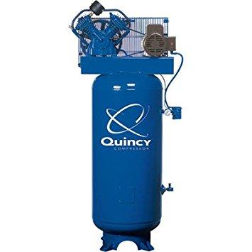 Quincy QT-54 Splash Lubricated Reciprocating Air Compressor - 5 HP, 230 Volt, 1 Phase, 60-Gallon Vertical, Model# 2V41C60VC