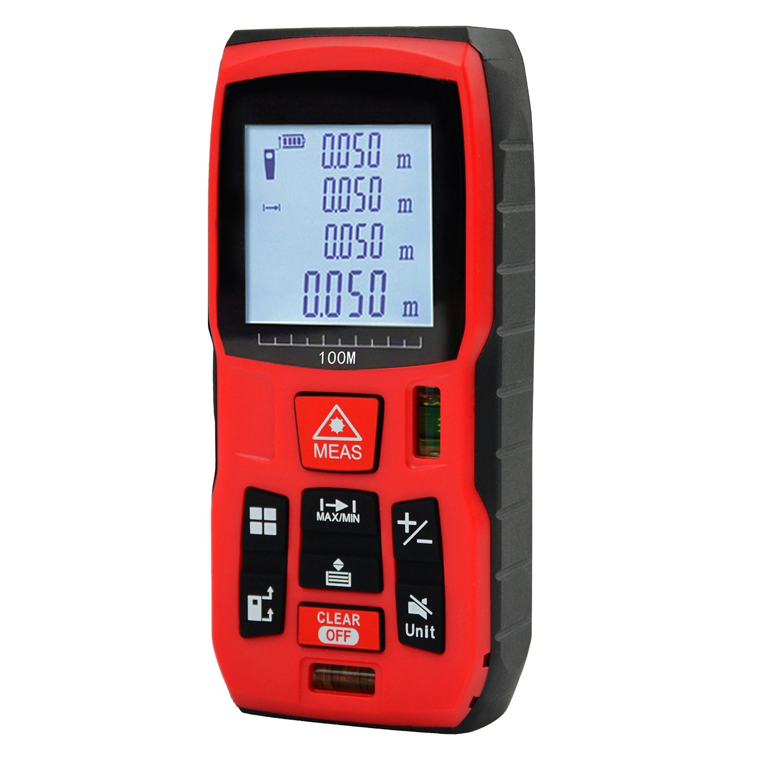 Qyuhe Laser Distance Meter 100M Measure Measuring Tool Measurement Device handheld with Mute Function and Backlit Display (328ft)
