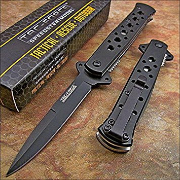 Tac-force Black Tactical Folding Pocket Knife NEW