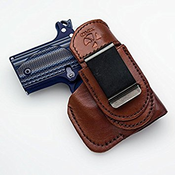 Talon Tuckable Sig Sauer P-938 IWB Holster Right Hand Brown with Crimson Trace Laser