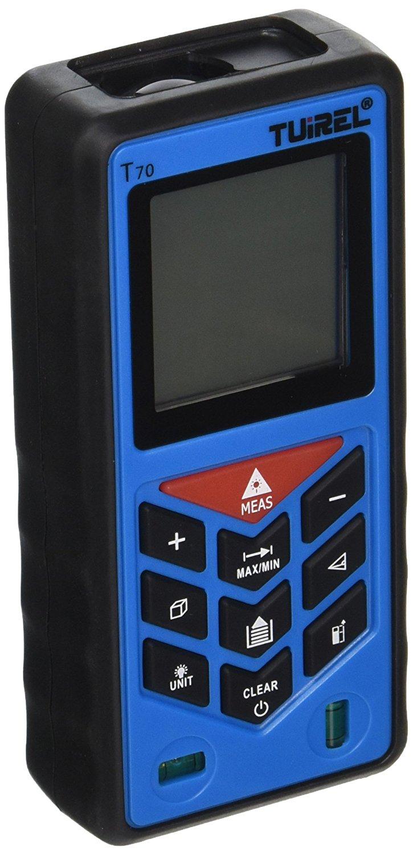 Tuirel T70 Laser Distance Measurer 229foot Handheld Range Finder Meter Measuring Device Tool