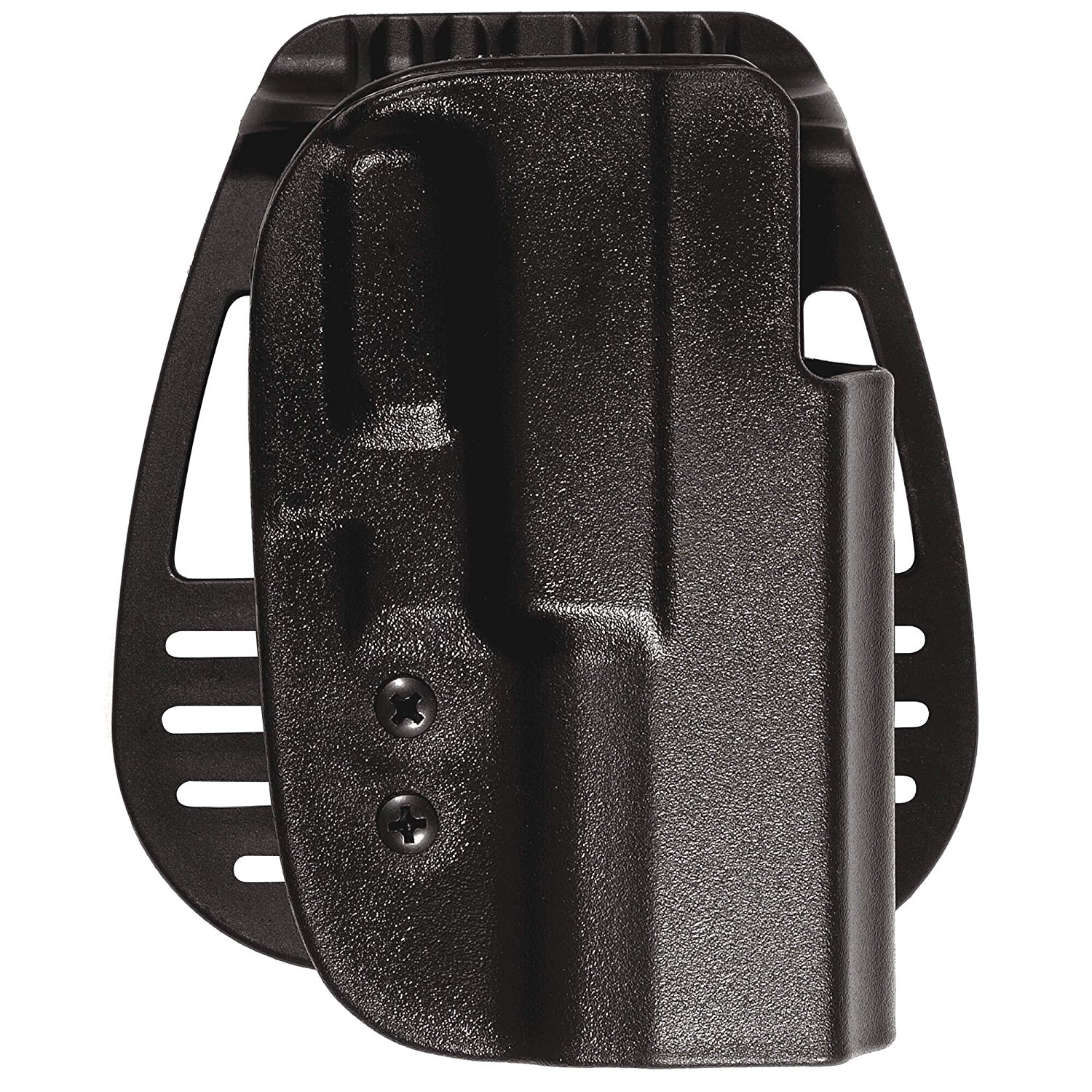 Uncle Mike's Tactical Kydex Open Top Hip Holster with Paddle and Belt Loop Accessories, Black
