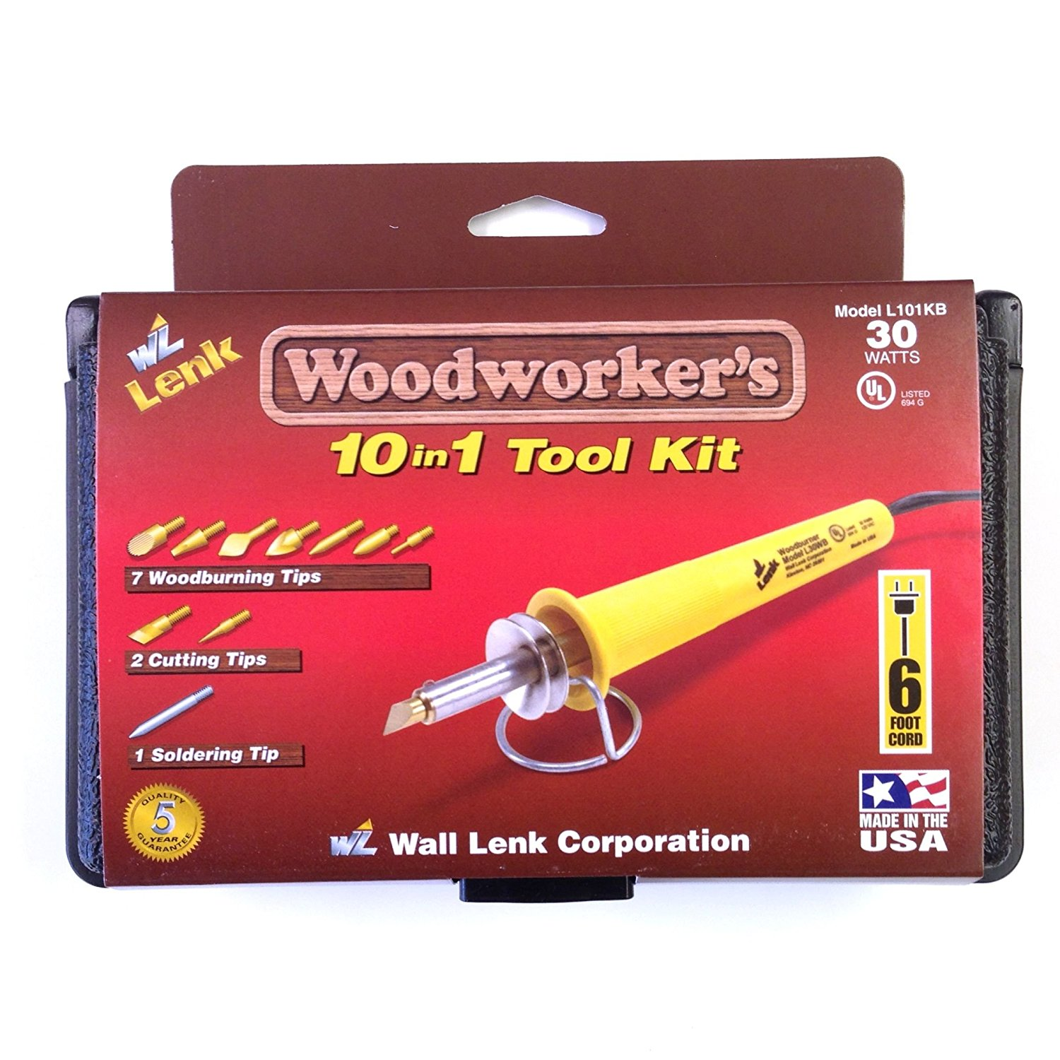 Wall Lenk L101KB Woodworker-foots 10-in-1 Tool Kit