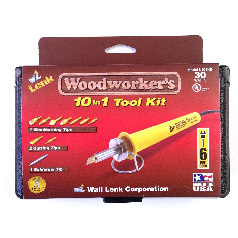 Wall Lenk L101KB Woodworker-foots 10-in-1 Tool Kit