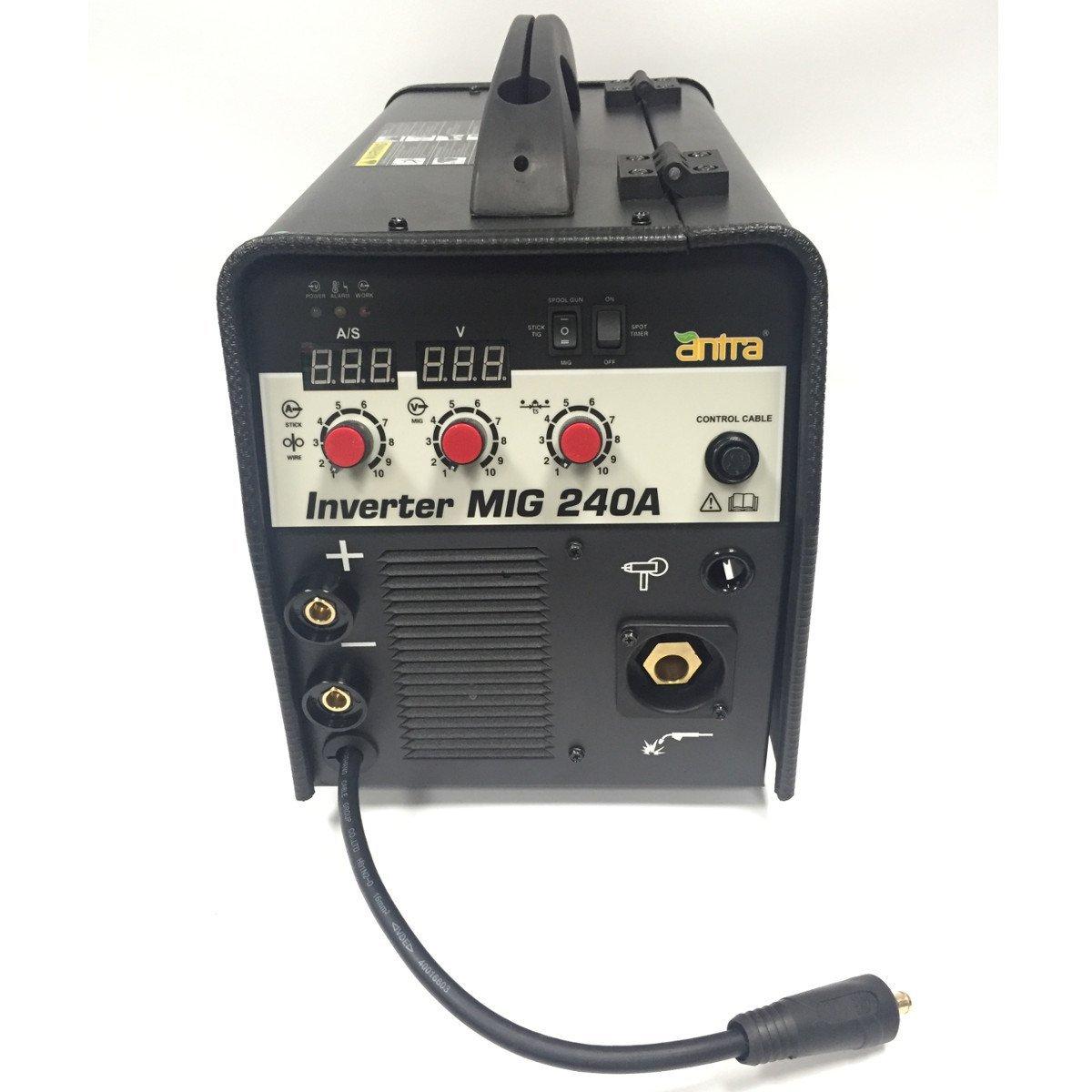3 in 1 Antra MIG240A TIG/MIG/MMA Inverter Welding Machine Welder Spool Gun Compatible With Regulator included