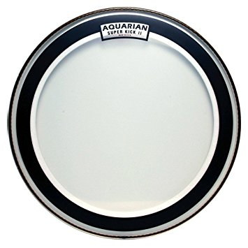 Aquarian Drumheads SKII22 Super-Kick II Double Ply 22-inch Bass Drum Head the Best Drum Heads For Metal Music