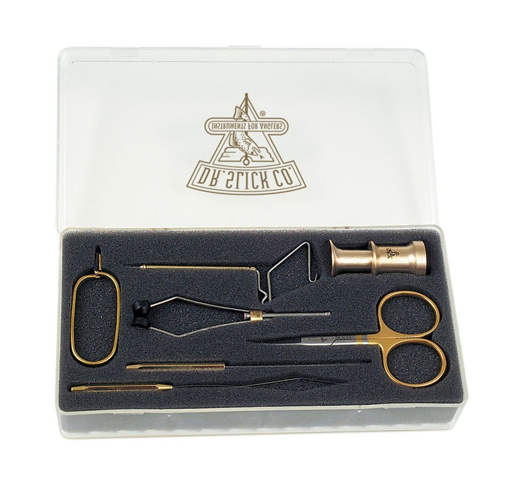 Dr Slick Fly Tying Tools Gift Set with Fly Box Combo