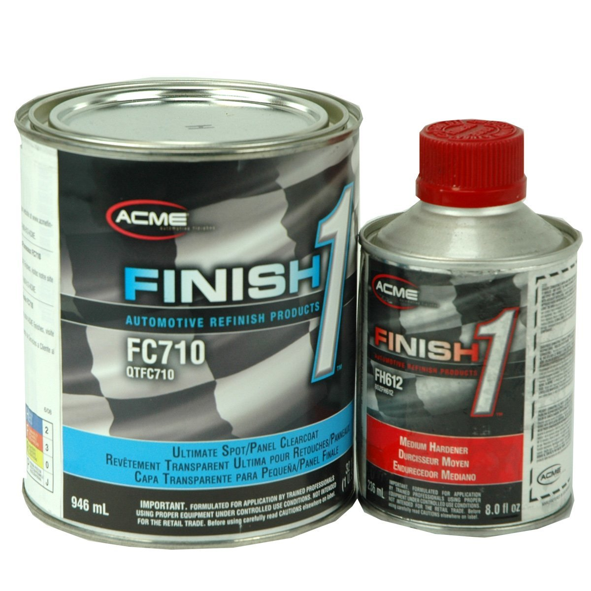 Finish 1 2K Urethane Automotive Clear Coat: 32 oz. Quart Clear Coat + 8 oz. Activator