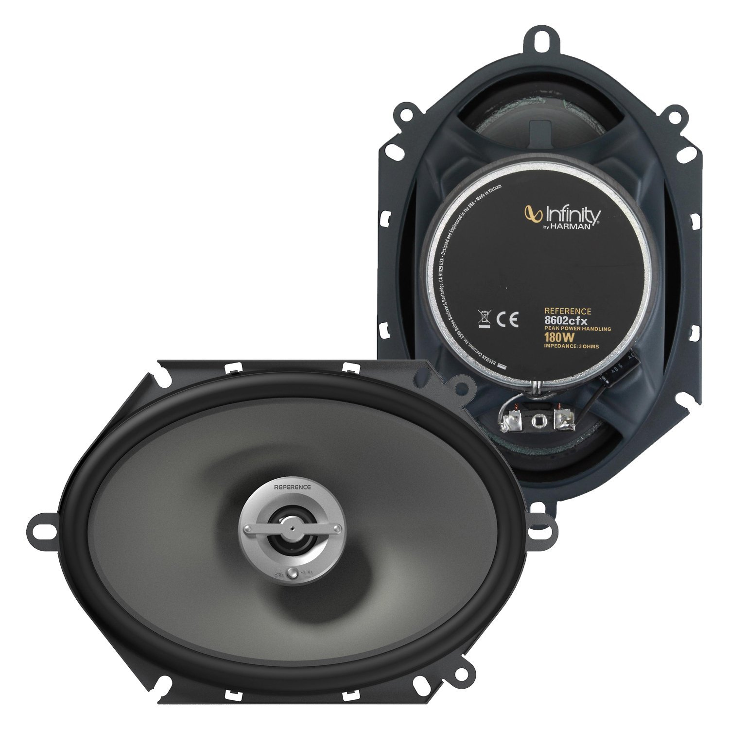 "Infinity Reference 8602cfx 6"" x 8"" / 5"" x 7"" two-way car audio speakers"