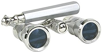 LaScala Optics 3x25 Iolanta Opera Glasses Platinum/Silver