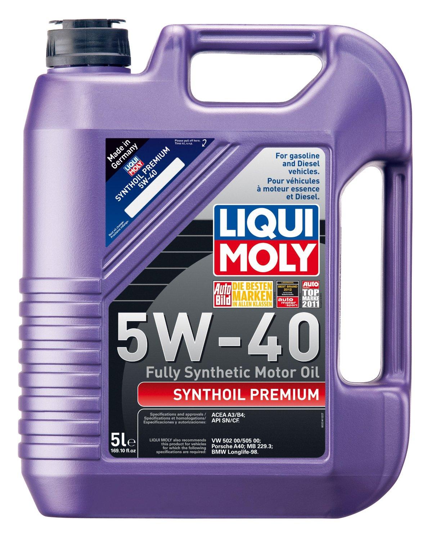Liqui Moly 2041 Premium 5W-40 Synthetic Motor Oil - 5 Liter Jug