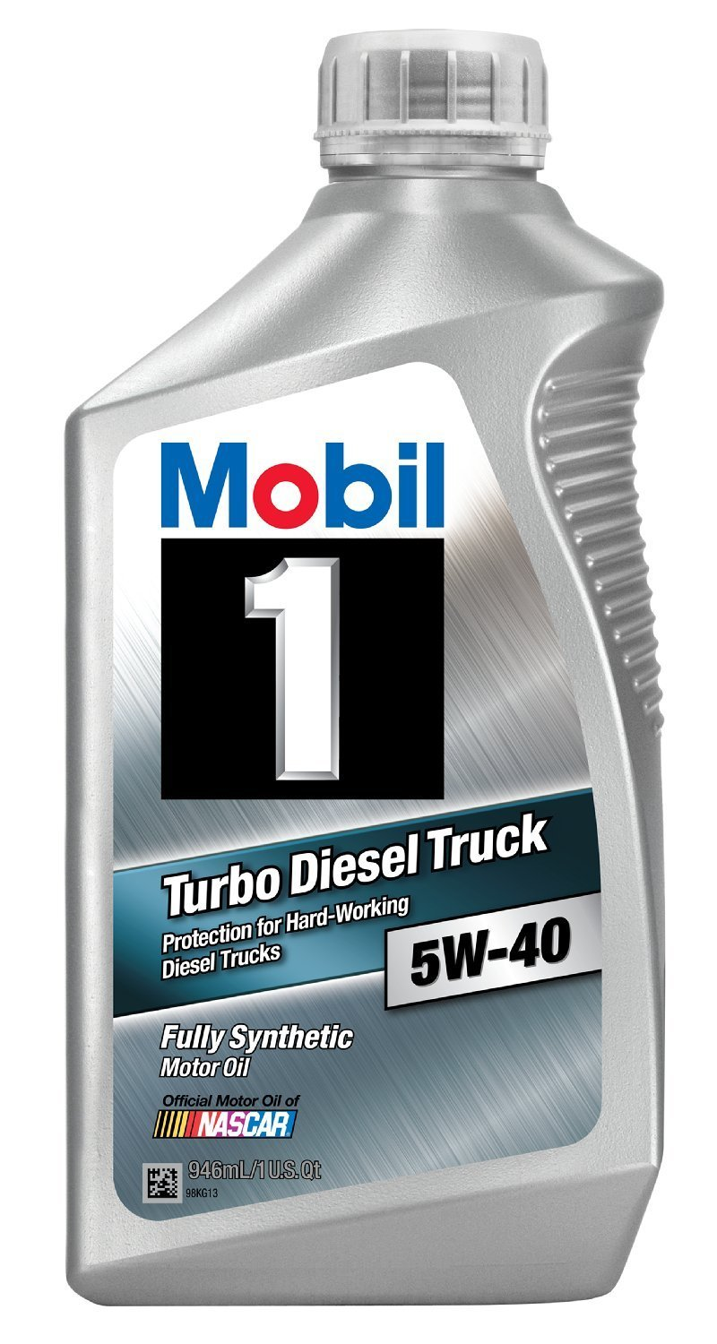 Mobil 1 44986 5W-40 Turbo Diesel Truck Synthetic Motor Oil Best Oil For 6.0 Powerstroke