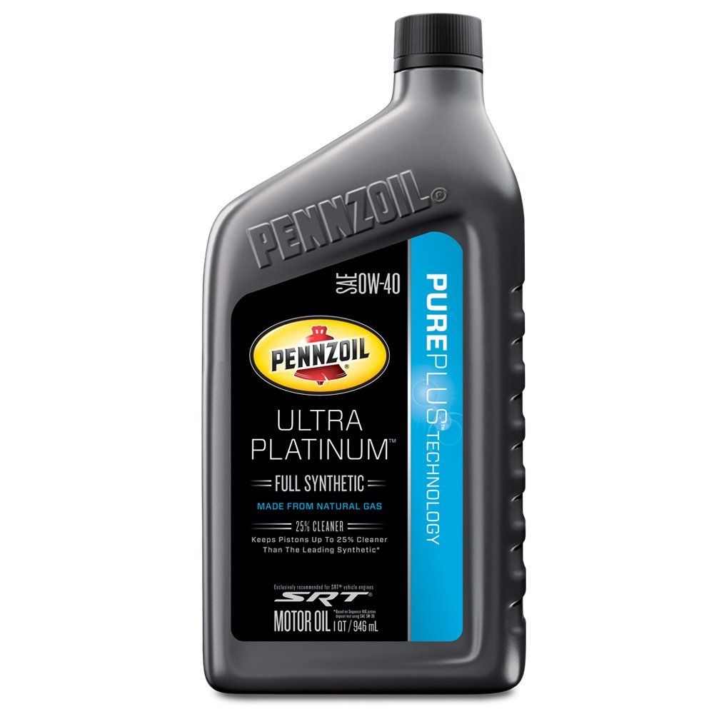 Pennzoil 550040856 Ultra Platinum 0W-40 Full Synthetic Motor Oil - 1 Quart
