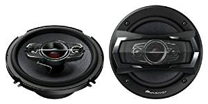 Pioneer TS-A1685R 350 Watts 4-Way Car Speakers, 6 1/2 Inch - 6 3/4 Inch, 1 Pair (Discontinued by Manufacturer)