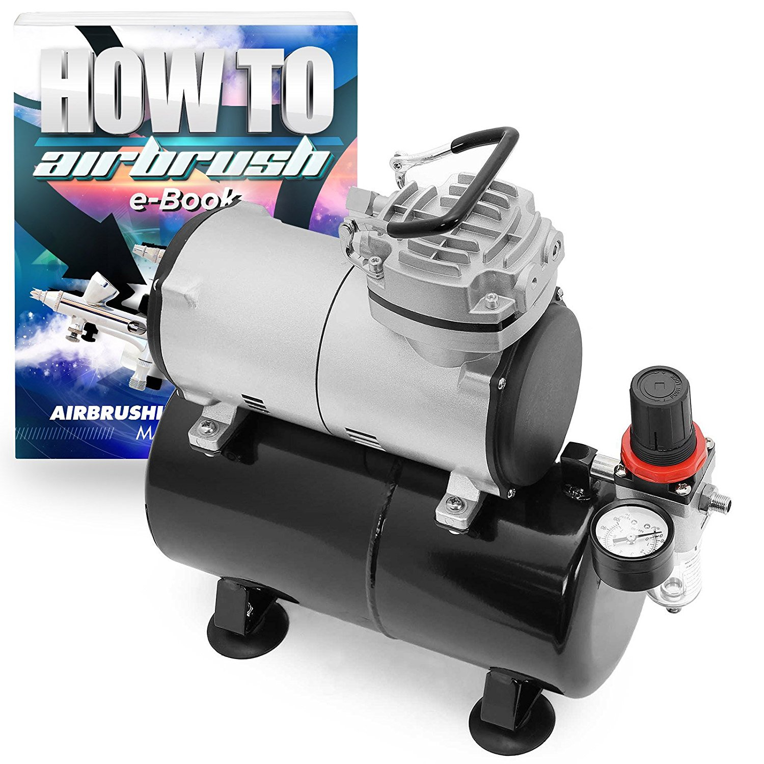 PointZero Portable Airbrush Air Compressor Oil-less 3L Tank 1/5 HP