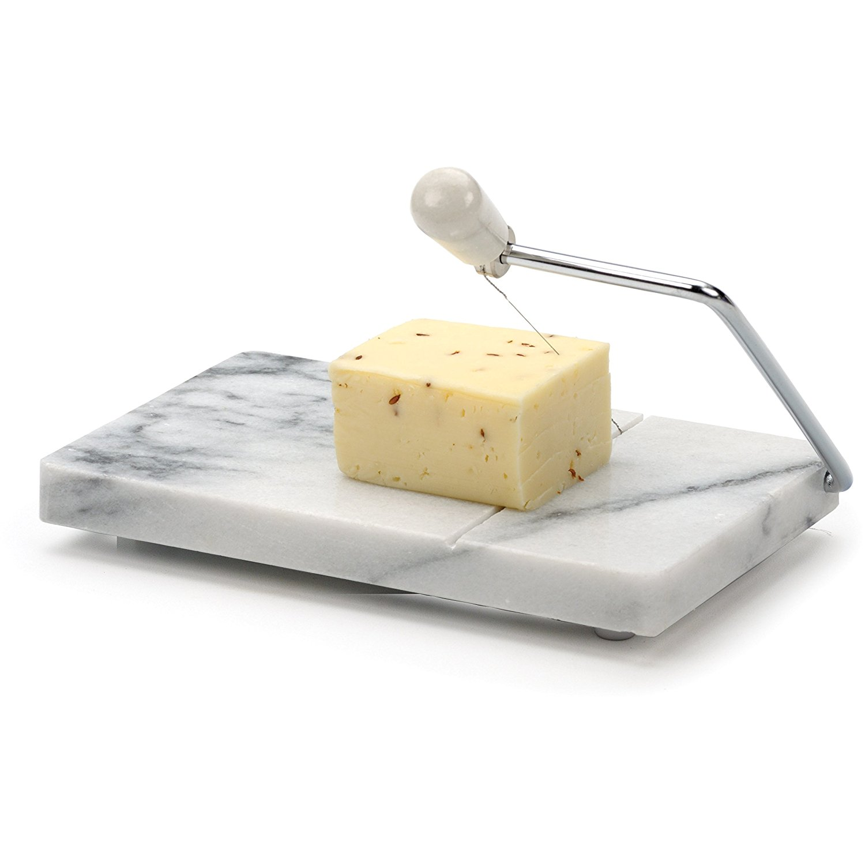 RSVP White Marble Cheese Slicer Board (White, 1) [Kitchen]