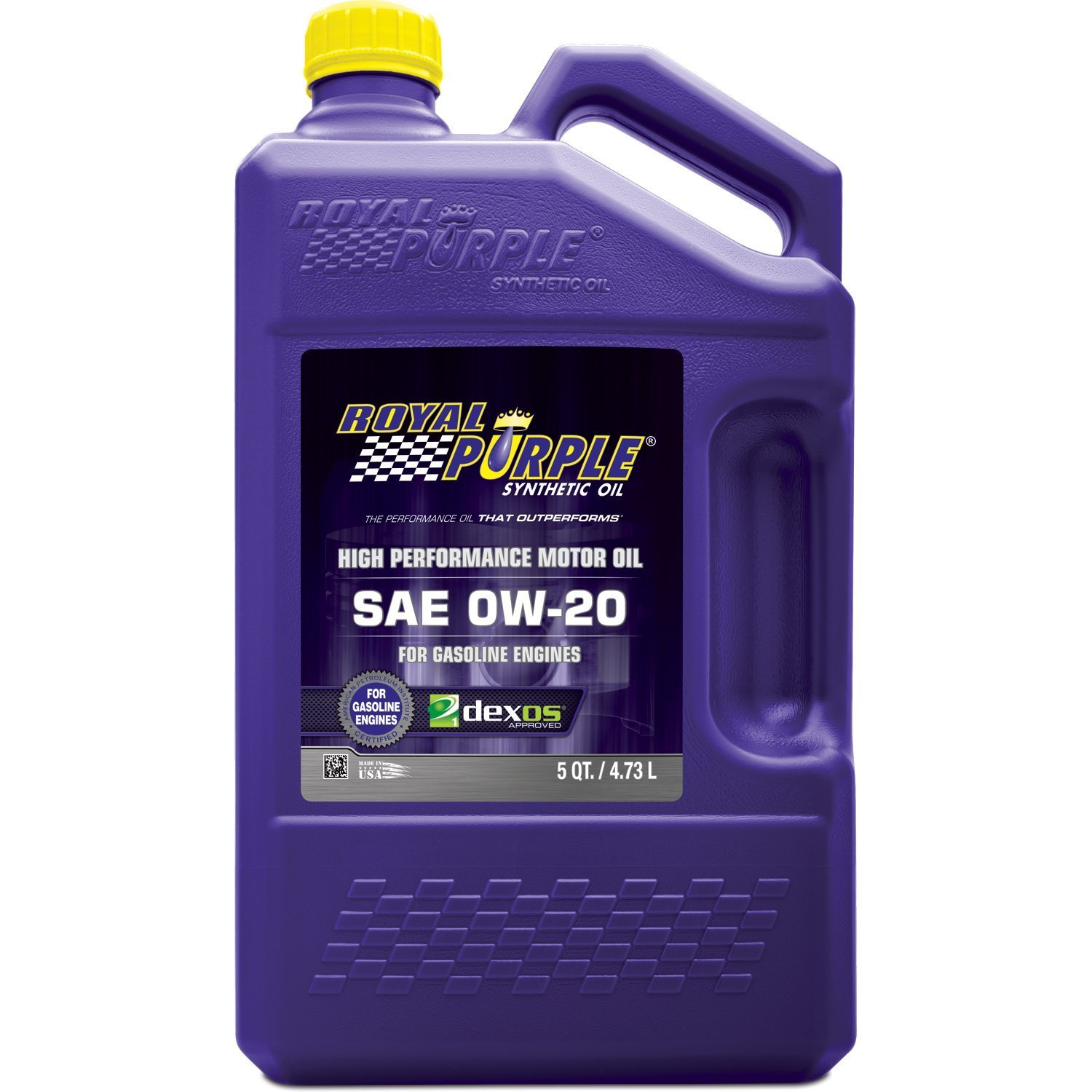 Royal Purple 51020 API-Licensed SAE 0W-20 High Performance Synthetic Motor Oil - 5 qt