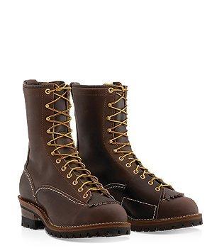 """Wesco Highliner 10"""" Brown Lineman Boots BR9710100"""