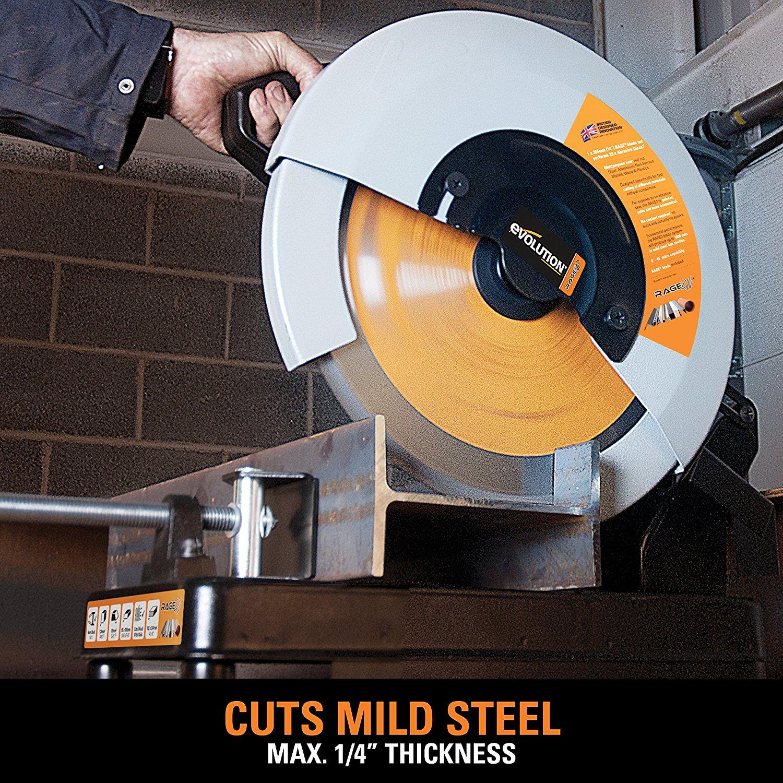 Evolution Power Tools RAGE2 Multi Purpose Cutting Chop Saw, 14-Inch