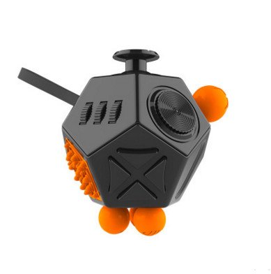 Fidget Cube for Fidgeters Fidget Cube II Release Stress and Anxiety Toy for Children and Adults (Black-A1)