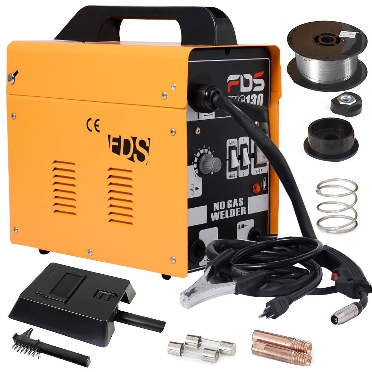 Goplus MIG 130 Welder Flux Core Wire Automatic Feed Welding Machine