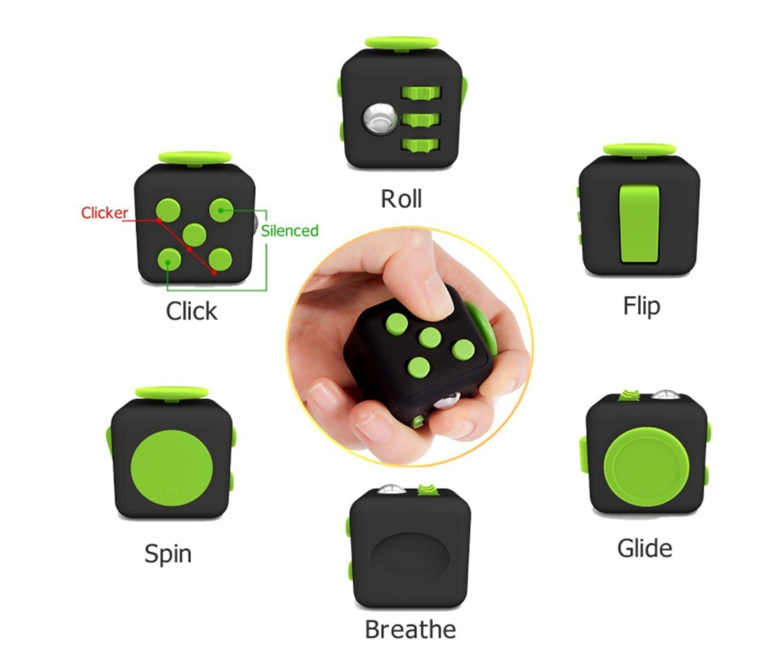 Muggle Shop Fidget Toy Fun Cube Relieves Stress And Anxiety for Children and Adults