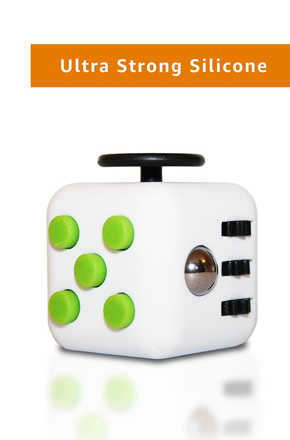 Wedual Fidget Cube [+FREE eBook] Extra Durable Silicone Fidget Dice Toy, Increases Focus - Anti Stress Toy Reliefs Anxiety, ADHD And Boredom -Made for Adults and Children