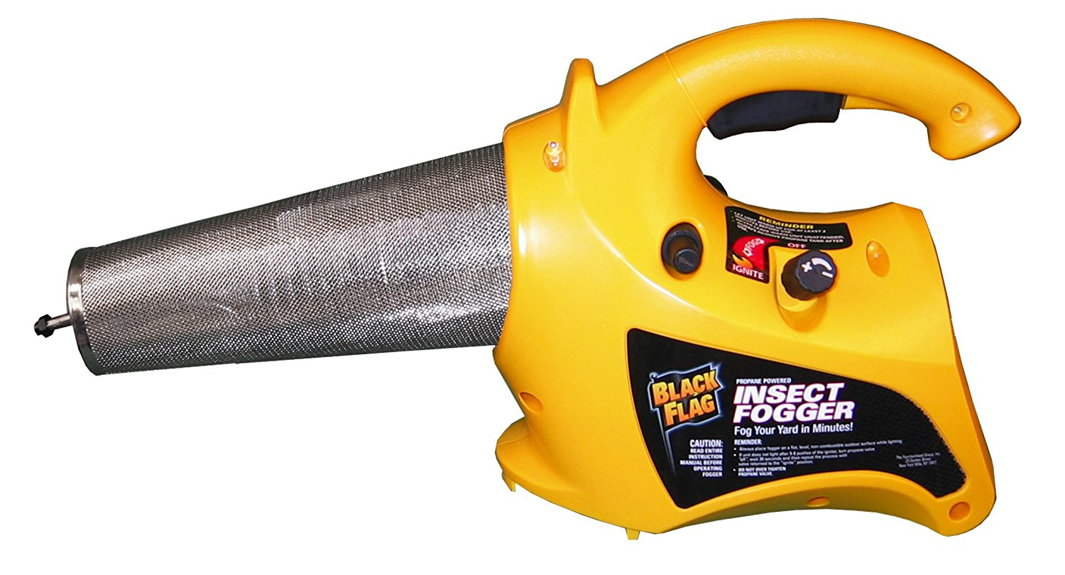 Black Flag 190095 Propane Insect Fogger (NEW VERSION) for Killing and Repelling Mosquitoes, Flies, and Flying Insects Outdoors